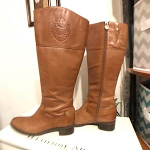 ETIENNE AIGNER KNEE HIGH BROWN BOOTS